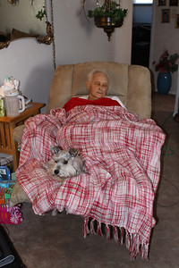 Aunt Jean taking her a little nap with Leibie.