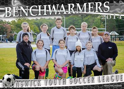 BENCHWARMERS team 5x7