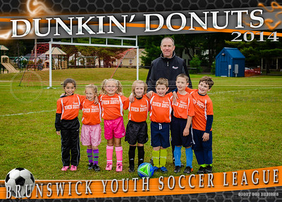 Dunkin Donuts team 5x7