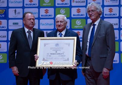 2017 Suzuki World Judo Championships Budapest Day2, Franco Capelletti, Jean-Luc Rougé, Marius Vizer_BT_NIKON D4_20170829__D4B1182
