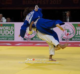 2017 Suzuki World Judo Championships Budapest Day2, Ai Shishime, JPN, Natalia Kuziutina, RUS_BT_NIKON D4_20170829__D4B1013