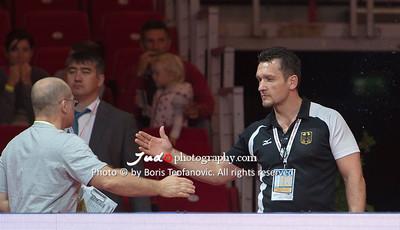 2017 Suzuki World Judo Championships Budapest Day7 Teams, Bundestrainer, Claudiu Pusa, Richard Trautmann_BT_NIKON D4_20170903__D4B8232