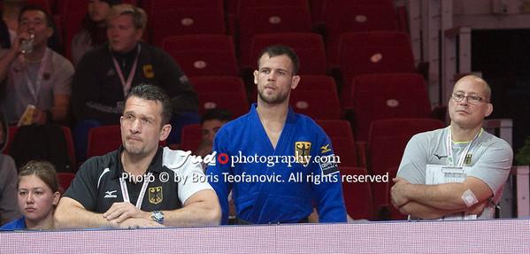 2017 Suzuki World Judo Championships Budapest Day7 Teams, Bundestrainer, Claudiu Pusa, Igor Wandtke, Richard Trautmann_BT_NIKON D4_20170903__D4B8131