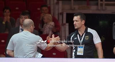 2017 Suzuki World Judo Championships Budapest Day7 Teams, Bundestrainer, Claudiu Pusa, Richard Trautmann_BT_NIKON D4_20170903__D4B8233