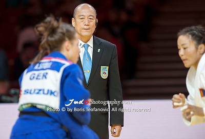 2017 Suzuki World Judo Championships Budapest Day7 Teams, Guoqiao Wang, Referee_BT_NIKON D3_20170903__D3C5116