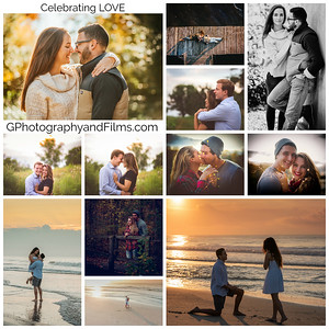 Couple engagement collage 2