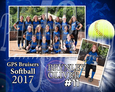 Brynley Oliver Memory Mate - Softball