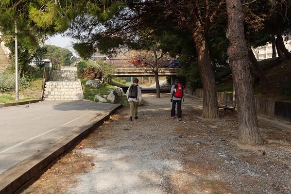 Promenade René Cassin - Passage sous l'avenue M.Thorez - Km 0,75