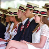 The Sixth Form, or class, for The Groton School 2018, listens to Mr. Temba T. Maqubela, Headmaster, prior the presentation of diplomas at the graduation ceremony on Sunday afternoon.  SUN/Scot Langdon
