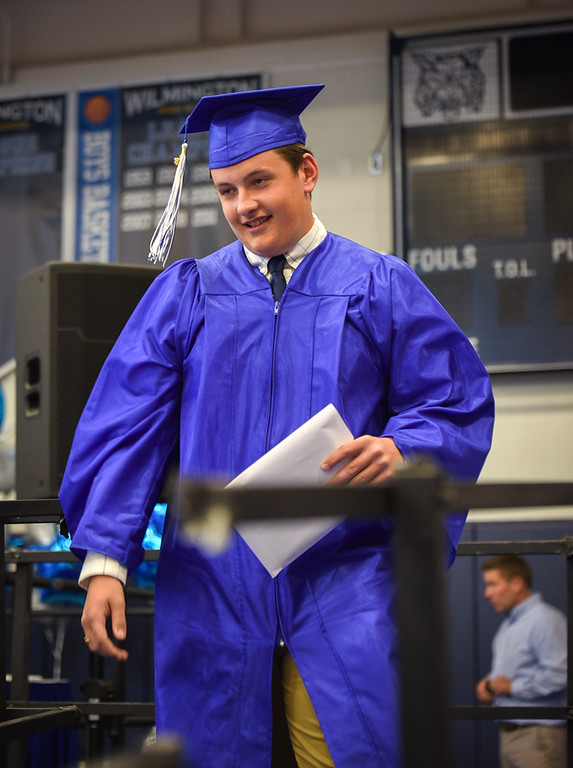 . Students received their diplomas at Wilmington High School on Sunday.  SUN/Scot Langdon