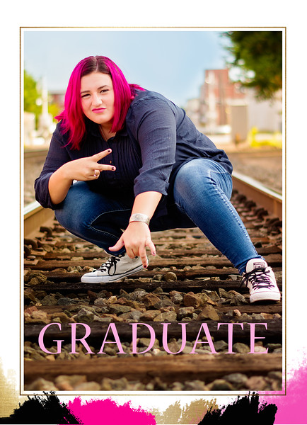 Chaise Graduation Announcement Back