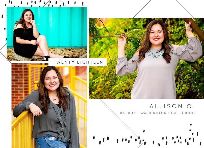 Allison Graduation Announcement BACK