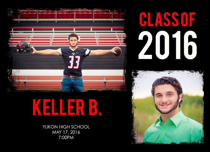 Graduation Announcement Keller FRONT
