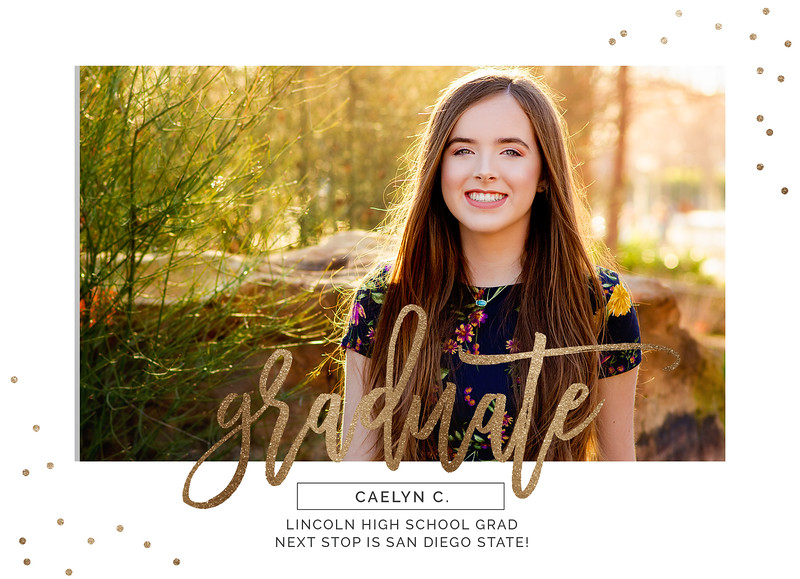 Caelyn Graduation Announcement FRONTadv