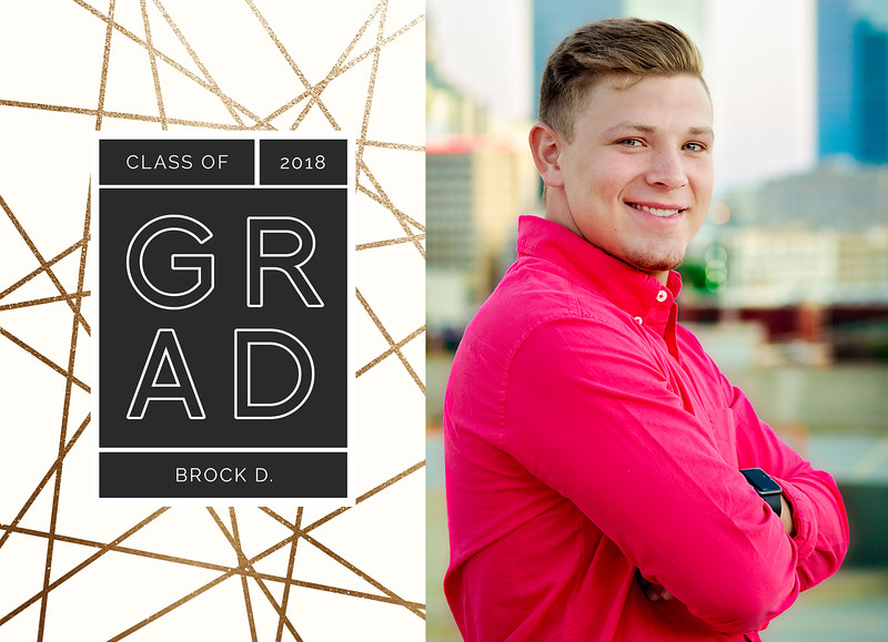 Brock Graduation Announcement FRONT