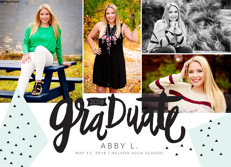 Abby Graduation Announcement FRONT