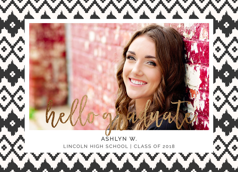 Ashlyn Graduation Announcement FRONT