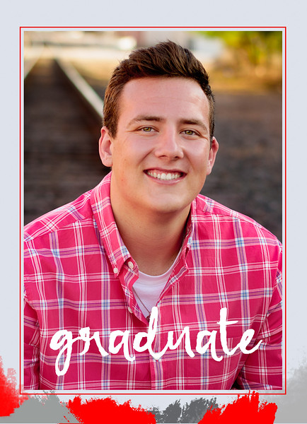 Brett Graduation Announcement Back