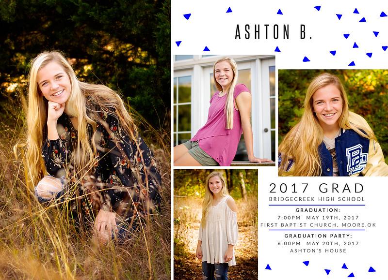 Ashton Graduation Announcement BACKUD