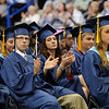 TIM JEAN/Staff photo. Graduates applaud during Methuen High School commencement exercises at the Tsongas Arena in Lowell.   6/6/15