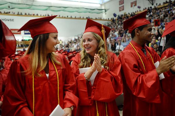 PAUL BILODEAU/Staff photo. Scenes from Salem High School's graduation ceremony held in the Veterans Memorial Fieldhouse.  6/5/15
