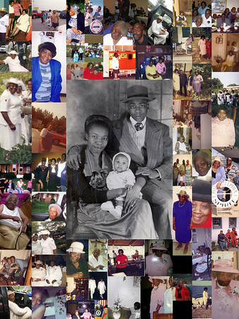 Cousin Mamie collages