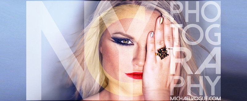Makeup, Photography, and graphic design created by Michael Vogue.