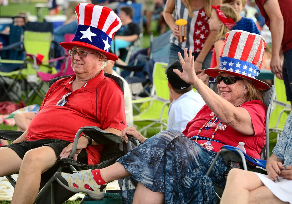 . Ken Schwaner and Marlene Luth listen to the live bands at the Great American Picnic at the Broomfield County Commons on Wednesday July 4. For more photos go to broomfieldenterprise.com.  Paul Aiken / Staff Photographer July 4, 2018