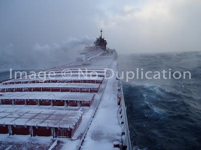 2005, January--LAKE SUPERIOR WINTER STORM, SS Herbert C. Jackson