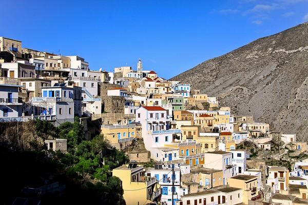 GREECE, KARPATHOS ISLAND - OLYMPOS VILLAGE
