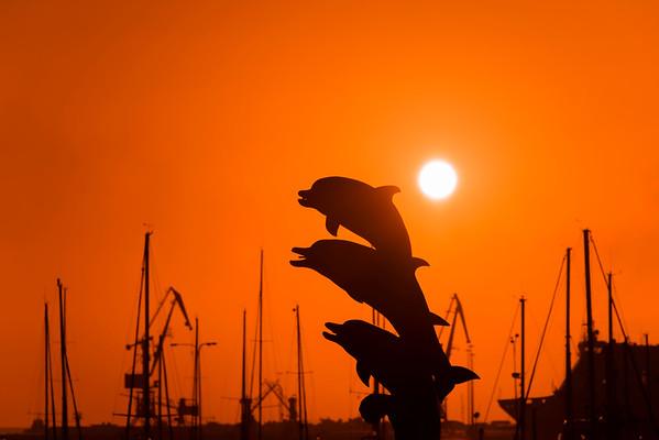 Heraklion port sunrise