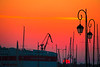 Heraklion port sunrise