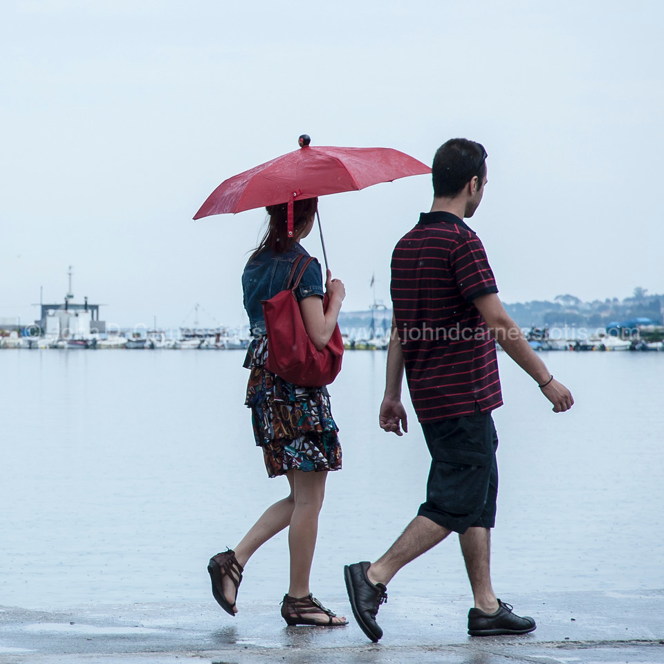 On a rainy afternoon around the Mytilene harbour