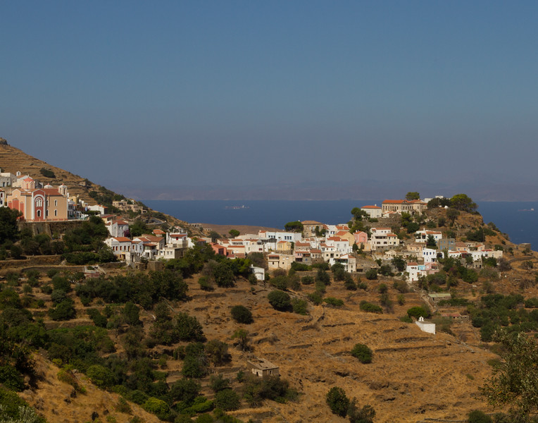 VIEW FROM THE TOP. Kea, Greece.