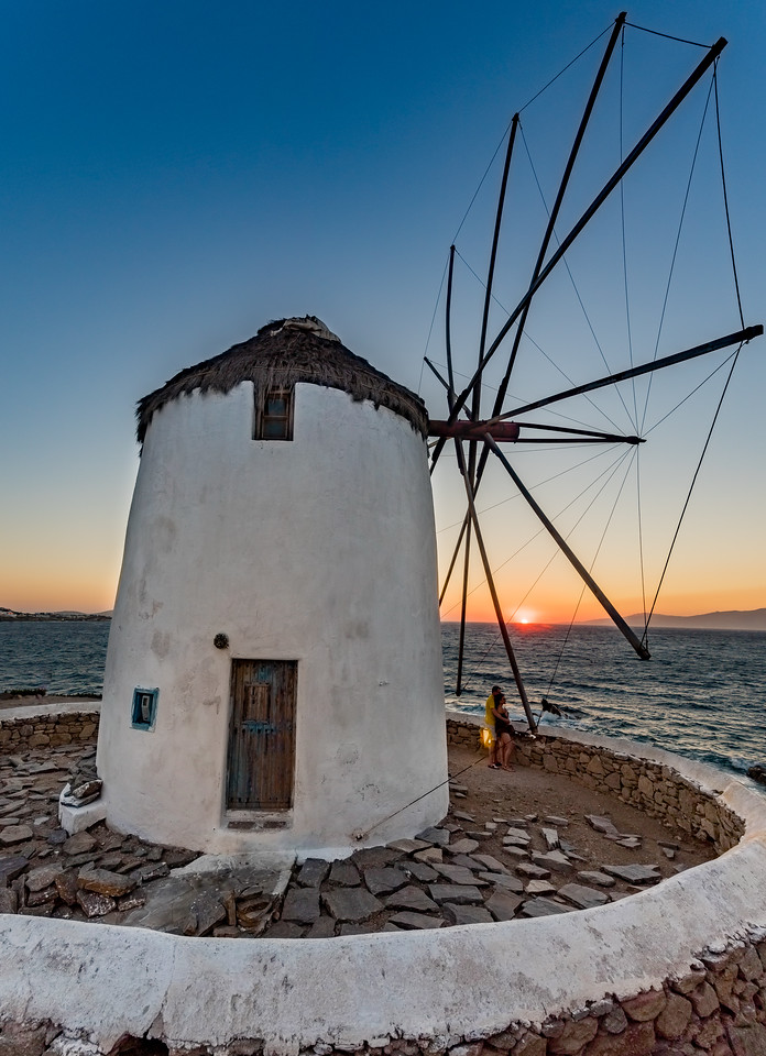 Mykonos Windmill Sunset