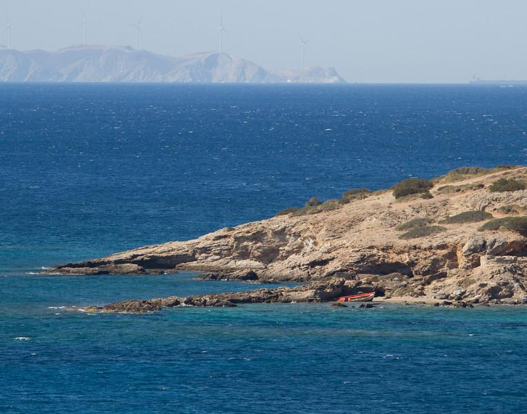 ABANDONED ROW BOAT. Cape Sounion, Greece.