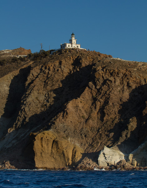 LIGHTHOUSE FROM THE OTHER SIDE. Santorini, Greece.