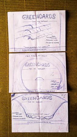 1- La idea de las Greencards salio de la cabeza y despues paso al papel.