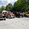ROW OF VINTAGE CARS
