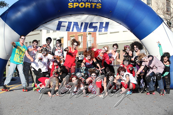 FINISH LINE - GSO ROLLER DERBY ZOMBIES