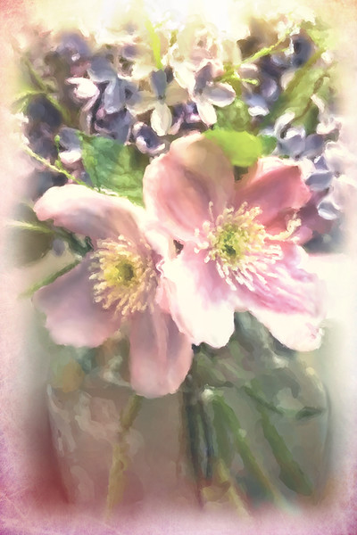 Lilacs and Clematis