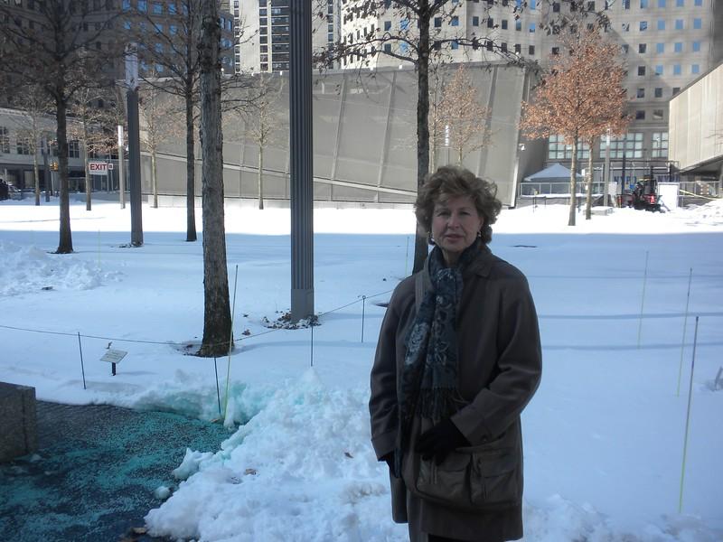 Tom and Betty visited Ground Zero, 911 Memorial, New York on Sunday, February 10, 2013