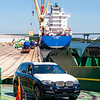 BMW's being loaded at The Port of Charleston on 8/25/14.  File: 082414GR34