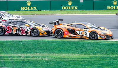 Two McLaren 650S GT3, 60 Nathan Morcom Followed by 37 Klark Quinn