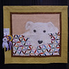"Tim Latimer's quilt ""Teddy"" was the number 1 viewers choice."