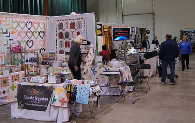 Back to the vendor area.  Many wonderful vendors with a good variety of quilters treasure.