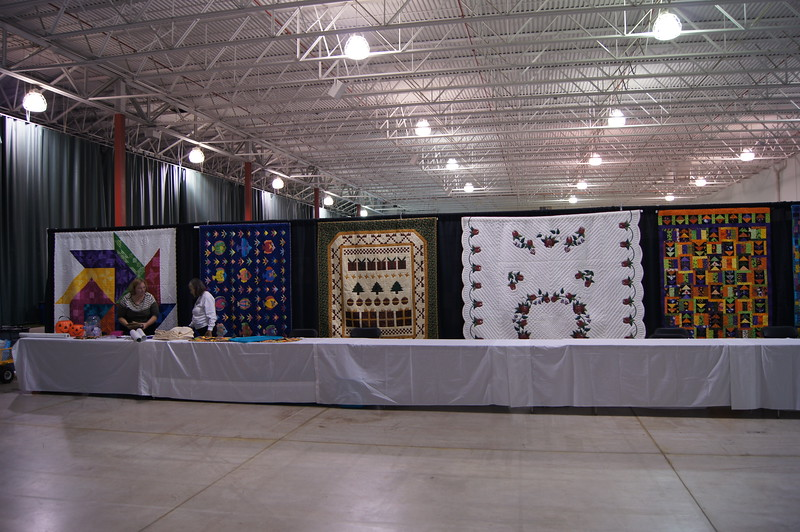 Raffle Quilts.  Seven in total in this years drawing.