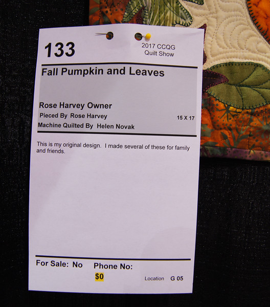 Harvey, Rose Fall Pumpkin 133a
