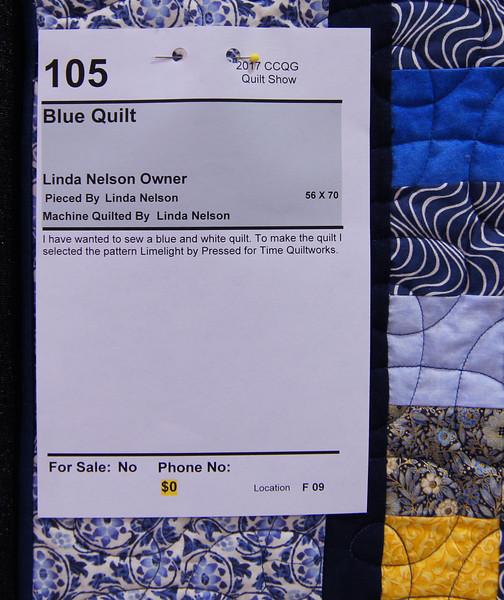 Nelson, Linda Blue Quilt 105a