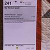 Neuner, Sharon My Nickel Quilt 241a